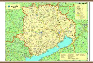 veszprém megye domborzati térkép KELET TANÉRT KFT veszprém megye domborzati térkép