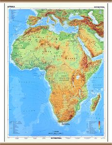 afrika domborzati térkép KELET TANÉRT KFT afrika domborzati térkép
