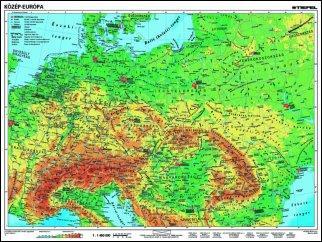 közép európa domborzati térkép KELET TANÉRT KFT közép európa domborzati térkép